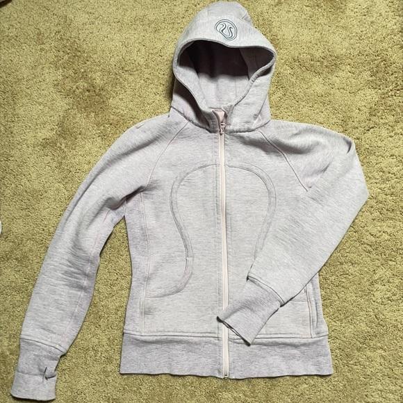 Lululemon women's light pink/grey scuba hoodie
